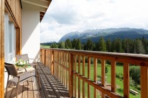 Ein allgemeiner Bergblick oder ein Berglick von des Hotels aus