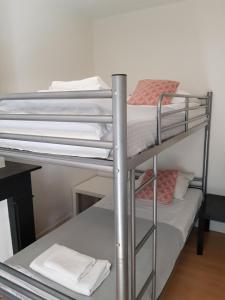 A bunk bed or bunk beds in a room at BnBTulip