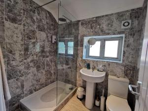 A bathroom at The Mill Hotel