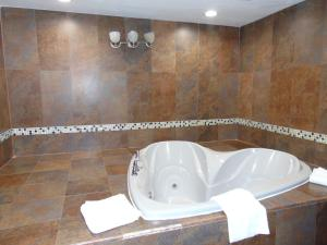 A bathroom at La Mirage
