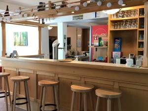 Lounge oder Bar in der Unterkunft Alte Schule Niederdünzebach
