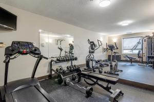 The fitness center and/or fitness facilities at Devonian Hotel and Suites