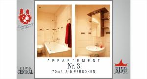Ein Badezimmer in der Unterkunft Wimaria Apartments - Central