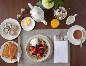 Breakfast options available to guests at The Royal Duchy Hotel
