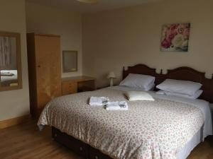 A bed or beds in a room at Castleview Holiday Home