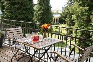 A balcony or terrace at Altstadthotel Amadeus