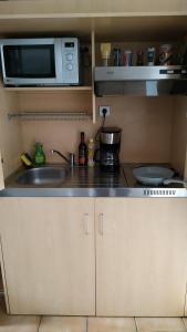 A kitchen or kitchenette at Studio au centre-ville de Dole