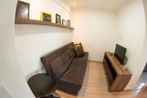 A seating area at Apt em Condomínio de Luxo a Beira Mar de Maceió
