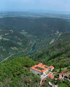 A bird's-eye view of Parador de Santo Estevo