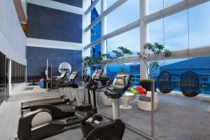 The fitness centre and/or fitness facilities at Citadines Fusionopolis Singapore (SG Clean)