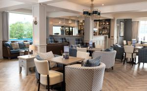 The lounge or bar area at Loch Ness Clansman Hotel