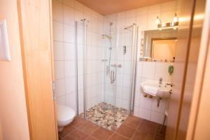 Ein Badezimmer in der Unterkunft Landhaus & Landhof Gabriel