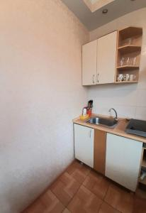 A kitchen or kitchenette at Apartments at Kosygina 17