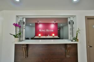 The lobby or reception area at King Hotel