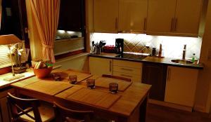 Küche/Küchenzeile in der Unterkunft Sylter Rabe