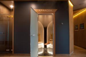 A bathroom at Recreation Club Dachi