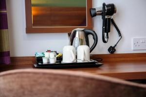 Coffee and tea-making facilities at Yorkshire Gateway Hotel