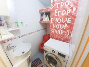 Ванная комната в Lux Apartaments Ильинский бульвар 7