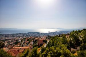 A bird's-eye view of Athens Top Hill Sea View Villa