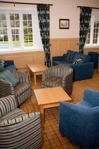 A seating area at YHA Ilam Hall