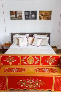 מיטה או מיטות בחדר ב-Grand Accommodation Apartments