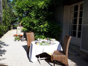 A restaurant or other place to eat at Chambres d'Hôtes Le P'tit Angelus de Barbizon