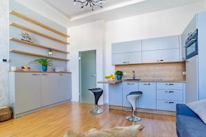 Kuchyň nebo kuchyňský kout v ubytování Ines apartment Prague