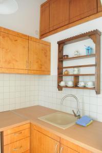 Η κουζίνα ή μικρή κουζίνα στο Pegasus Studios and Apartments