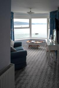 A seating area at The Hannafore Point Hotel