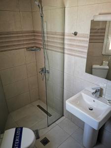 A bathroom at Europa Hotel