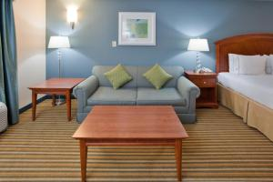 A seating area at Holiday Inn Express Hotel & Suites Fredericksburg