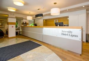The lobby or reception area at Amenity Hotel & Resort Lipno