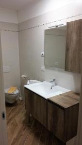 Koupelna v ubytování Hotel Marchi