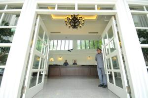 The lobby or reception area at The Sterling Boutique Hotel Melaka