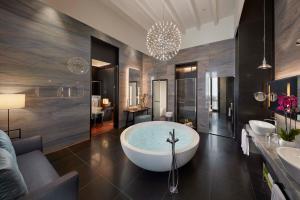 A bathroom at Mandarin Oriental, Milan