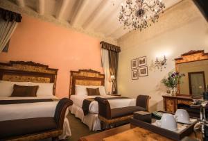 Zona de estar de Aranwa Cusco Boutique Hotel