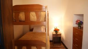 Litera o literas de una habitación en Cusco Hostel Inti