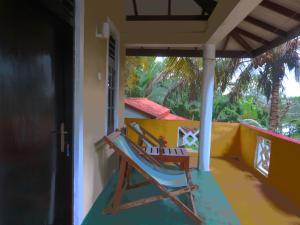 Ein Balkon oder eine Terrasse in der Unterkunft Beach Lagoon Guesthouse