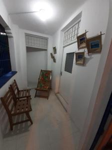 A seating area at Villa Recife Hostel