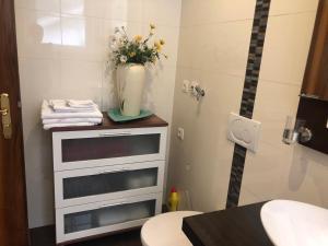 A bathroom at Idyllisches Wohnen Weinberg
