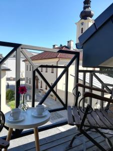 Balkón nebo terasa v ubytování Apartmány U Holubů