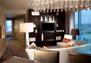 A television and/or entertainment center at Omni Dallas Hotel