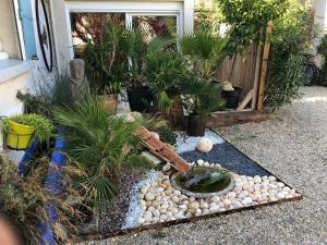 A garden outside le luberon des artistes