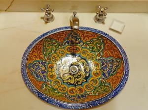 A bathroom at Hotel Medio Mundo