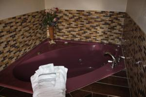 A bathroom at Economy Inn - Statesville
