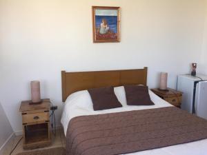 Cama o camas de una habitación en Hotel Blanco Encalada