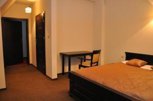 Łóżko lub łóżka w pokoju w obiekcie Villa Szamocin
