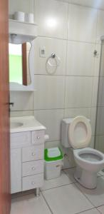 A bathroom at Hotel Avenida