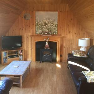 A television and/or entertainment center at Canach Cottage