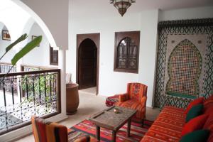 A seating area at Riad Achwaq